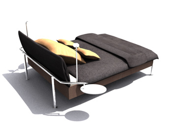 Simple and convenient single beds