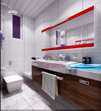 Modern bright and spacious bathroom 3d model 3d model Design a bathroom online free 3d