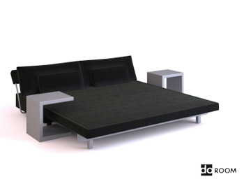 Modern style bedroom furniture combination