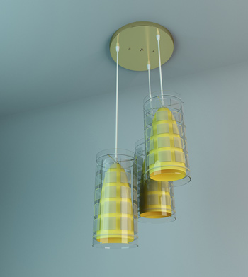 Exquisite chandeliers 3D model