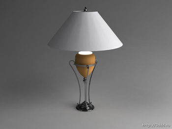 European personality desk lamp 3D models