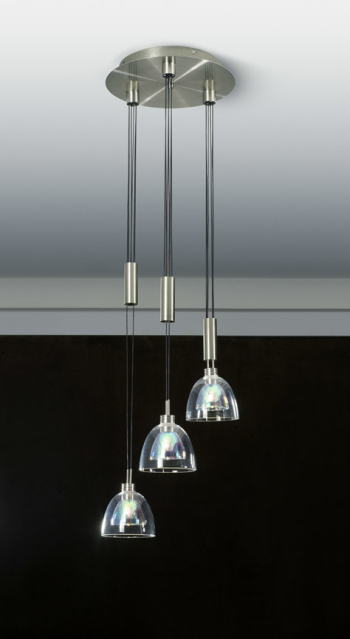 The simple transparent crystal lampshade combination chandelier