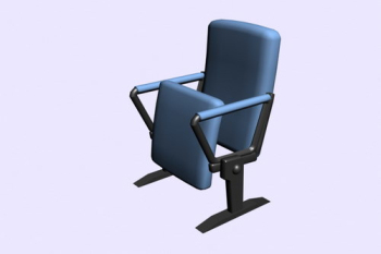 Conference room folding chair 3D model