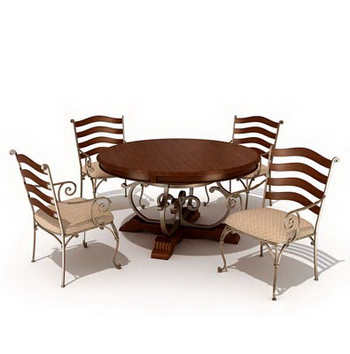Combination of casual dining tables and chairs