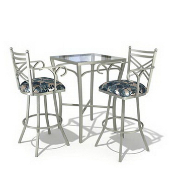Tall casual dining tables and chairs combination