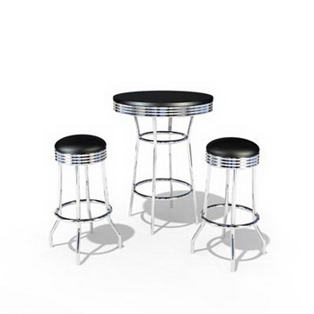 The black casual dining tables and chairs combination