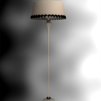 Chinese retro the single lever lampshade floor lamp