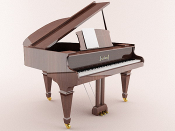 Brown played a grand piano 3D models