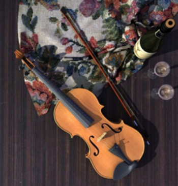 Musical instruments - violin 3D model