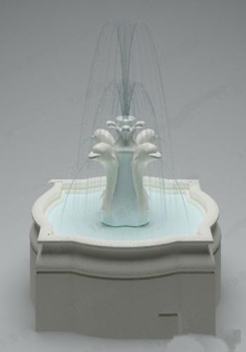 High-grade fountain 3d model design