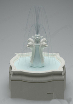 High-grade fountain 3d model design