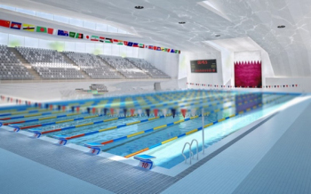 3D models swimming competition venue