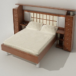 Modern wind simple model of bed