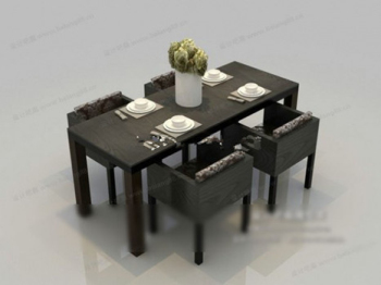 Casual dinette combination 3D models