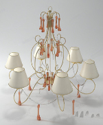 Orchid style chandeliers 3D models