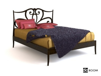 3d model of Chinese-style bedl