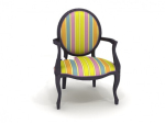 Colored round chair 3d model