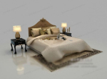 Classic European-style bed 3d model