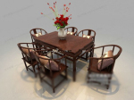 Combination of Chinese furniture 3d model