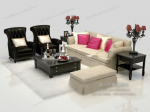 Noble style sofa 3d models