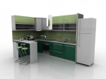 Green cabinets 3d model