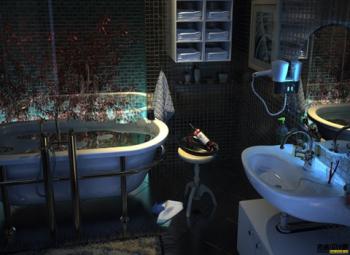3d model of fantasy style bathroom