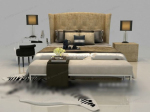 Modern style fashion model bed