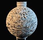 Straw ball ornaments 3d models
