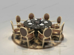 Roundtable round chair 3d model