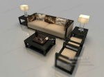 Black and white modern sofa model