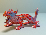 Red Chinese Dragon Ornaments model