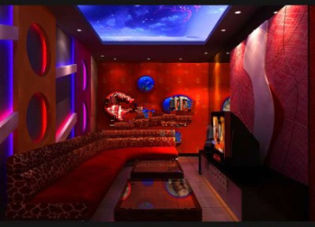 Chinese red KTV rooms 3d models