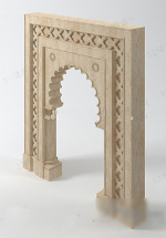 3d model of European-style doors