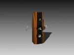 Brown DVD speaker 3d model