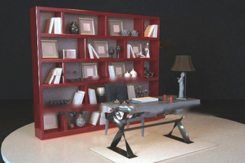 Chinese bookcase 3d model