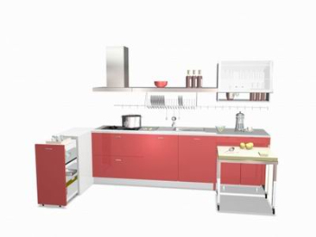 The red cabinets combinations 3D model