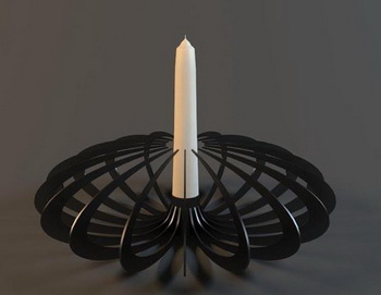 The black arc Personalized Candlestick