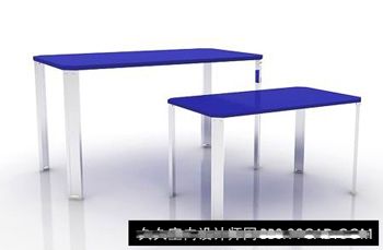 Simple and stylish blue dining table 3D model