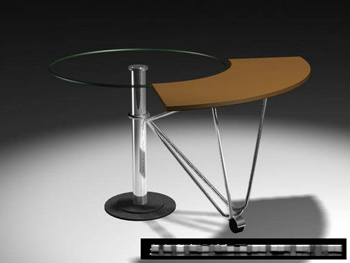 Personality stylish roundtable 3D model