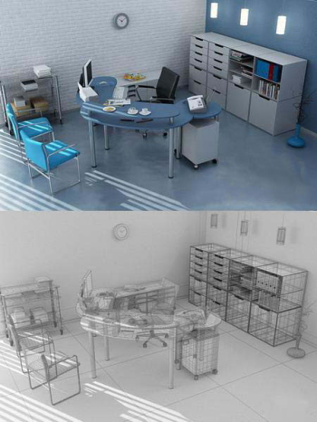 Personality minimalist office decoration 3D model