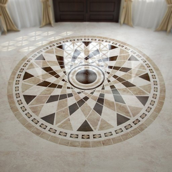 Circular foyer marble floor tiles model