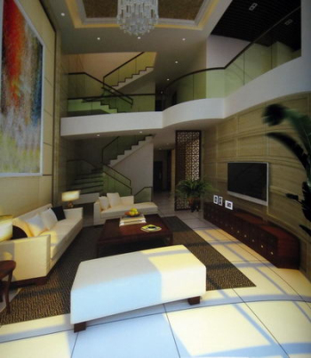 Modern luxury villa living room