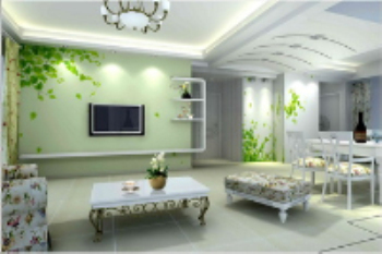 Natural, fresh style living room model