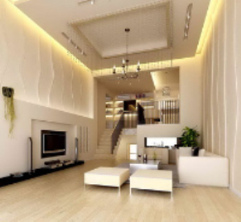 Duplex structure apartment living room scene model