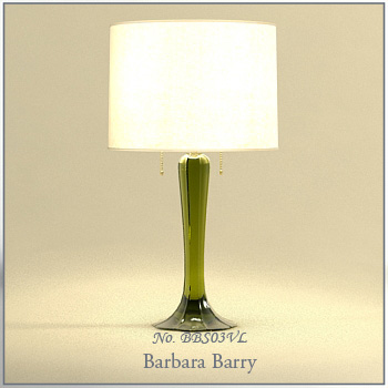 Green glass base table lamp 3D model