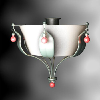 Pastoral the style pallet porcelain chandelier lamp 3D model