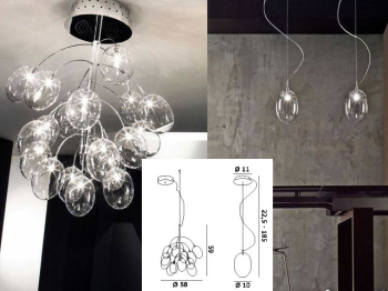 European creative personality, crystal chandeliers