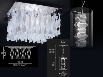 European crystal glass chandelier