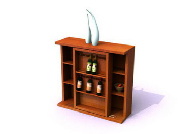 Solid wood garnish cabinet