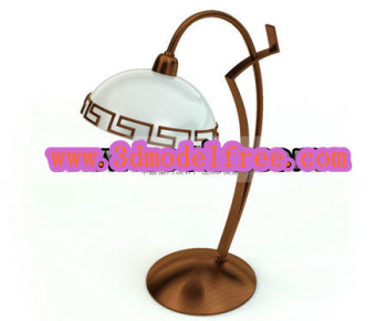 Ancient metal desk lamp 3D models